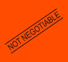Not Negotiable, Funny by Ron Marton