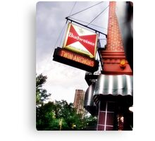 twin anchors, chicago style ribs Canvas Print