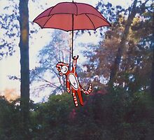 Little Monkey Red Umbrella by Sally Harris