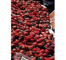 Giant Strawberries Photographic Print