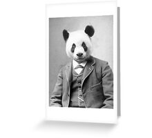 Distinguished Panda Greeting Card