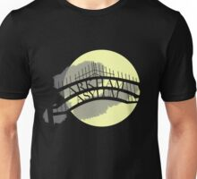 Arkham Asylum at Night Unisex T-Shirt