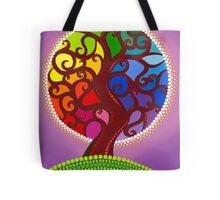 Rainbow Orb Tree of life Tote Bag