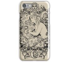 Cosmic Lovers  - ink solo version iPhone Case/Skin
