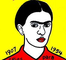 Frida Kahlo Pop Folk Art by krusefolkart