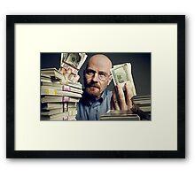 walter white gettin money Framed Print