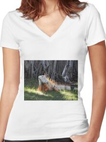 The Iguana Women's Fitted V-Neck T-Shirt