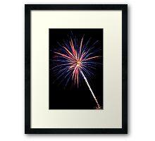 Single Blue and Orange Fireworks Framed Print