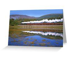 Steam Train - Loch Eil - West Highland Line- Scotland Greeting Card