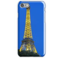 The Eiffel Tower at night  iPhone Case/Skin