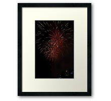 Triple Red Fireworks Framed Print