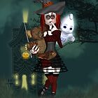 Halloween Card With Rag Doll And Deadybear by Moonlake