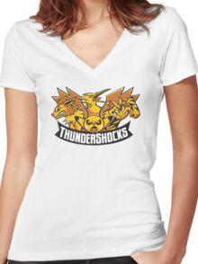 Team ThunderShocks Women's Fitted V-Neck T-Shirt
