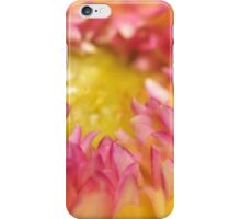 Pink and Yellow Dahlia, As Is iPhone Case/Skin