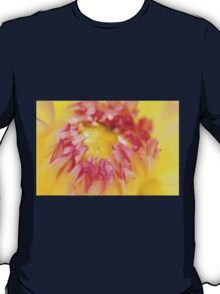 Pink and Yellow Dahlia, As Is T-Shirt