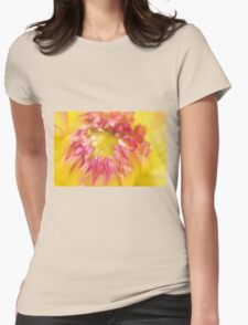 Pink and Yellow Dahlia, As Is Womens Fitted T-Shirt