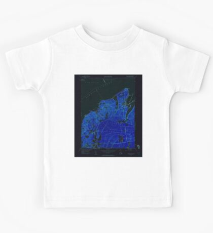Massachusetts  USGS Historical Topo Map MA Vineyard Haven 350664 1951 24000 Inverted Kids Tee