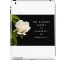 The highest result of education iPad Case/Skin