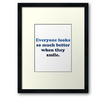 Jimmy Fallon Quote Framed Print