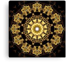 A Golden Fractal Fantasy Kaleidoscope Ring Canvas Print