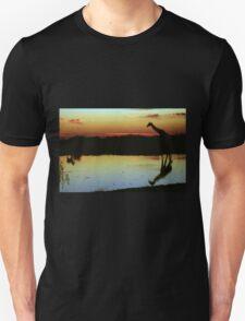 Giraffe at Sunset, Etosha, Namibia  Unisex T-Shirt