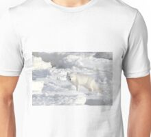 White on White. Arctic Fox #1, on the Tundra, Hudson Bay, Canada Unisex T-Shirt