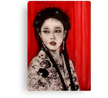Exotica with Red Curtain    Canvas Print