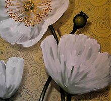 White Iceland Poppies by Cherie Roe Dirksen