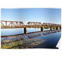 CN Rail Bridge over the Rainy River (Ontario) Poster