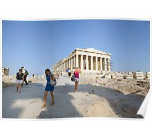 First view of the Parthenon Poster