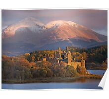 Autumn over Kilchurn castle, Loch Awe, Argyll Poster