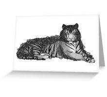 Flowery Jungle - TIGER Greeting Card