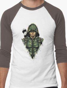 Green Hooded Hero Men's Baseball ¾ T-Shirt