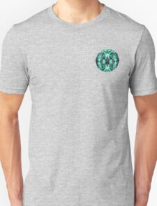 Abstract Surreal Chaos theory in Modern poison turquoise green Unisex T-Shirt