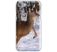 WHITETAIL DOE ON THE MOVE... iPhone Case/Skin