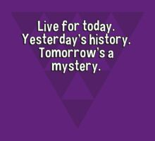 Live for today. Yesterday's history. Tomorrow's a mystery. by margdbrown