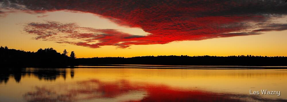 Silver Lake Sunset by Les Wazny