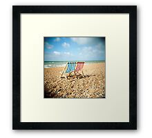 Deckchairs Framed Print