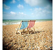 Deckchairs Photographic Print