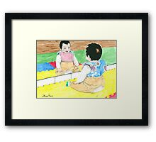 Daily Doodle 32 - Children - Hannah Framed Print