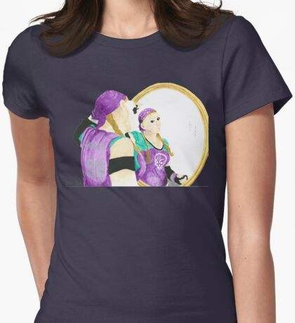 Daily Doodle 31-Vanity-Derby Girls-Validated Vanity Womens Fitted T-Shirt