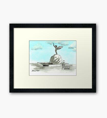 Daily Doodle 28- En Plein Air - Jacksonville Memorial Park Framed Print