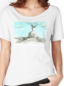 Daily Doodle 28- En Plein Air - Jacksonville Memorial Park Women's Relaxed Fit T-Shirt