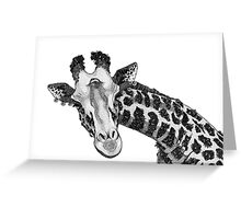 Flowery Jungle - GIRAFFE Greeting Card