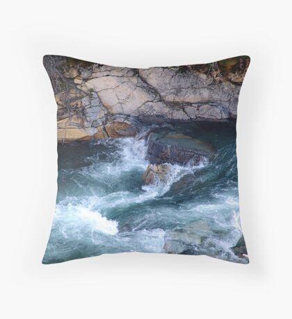 Rapids, Cameron Creek Throw Pillow
