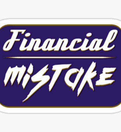 Financial Mistake JDM Sticker