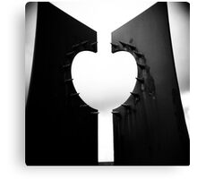 Apple Heart Canvas Print