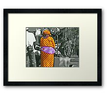 A Touch of Colour in a Grey World Framed Print