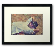 Not A Care In The World Framed Print