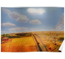 EARLY PIONEER LIFE ON THE PRAIRIES Poster